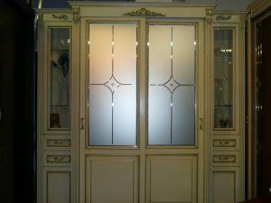 Классический шкаф купе массив с фацетными зеркалами и гравировкой Северодвинск