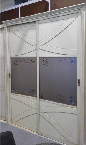 Классический шкаф купе с эксклюзивным декором Северодвинск