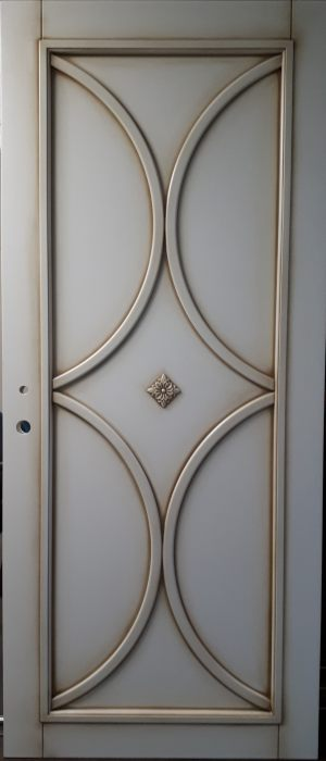 Межкомнатная дверь в профиле массив (эмаль с патиной) Северодвинск
