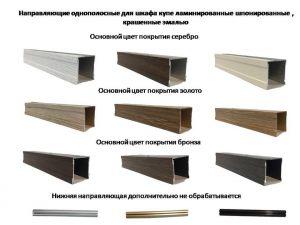 Направляющие однопосные для шкафа купе ламинированные, шпонированные, крашенные эмалью Северодвинск